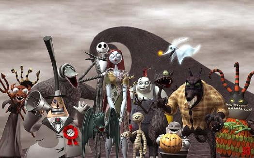 estranho mundo de jack personagens