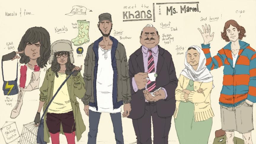 kamala khan familia
